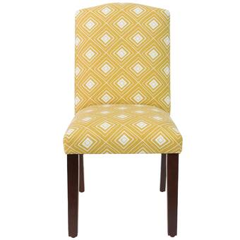 Brayden Studio Studdard Jet Button Tapered Upholstered Dining Chair Wayfair