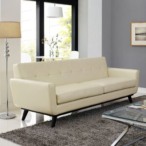 Beige Leather Sofas Youll Love Wayfair