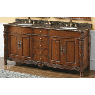 Vendome 72 Double Cherry Bathroom Vanity Set with Drawers by Astoria Grand