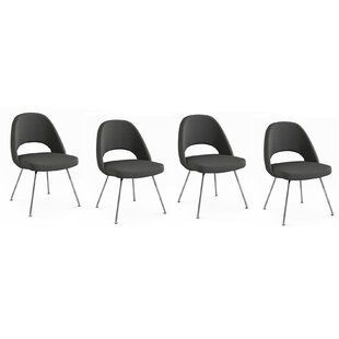 Compare prices Port Chester Upholstered Dining Chair (Set of 4) by Orren Ellis Reviews (2019) & Buyer's Guide