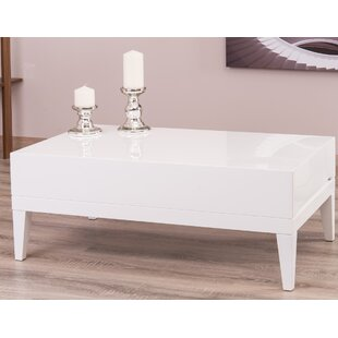 Corrigan Studio Ariah Lacquer Modern Coffee Table with Storage