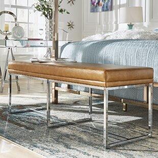 Fadrique Solid Metal Metal Bedroom Bench by Willa Arlo Interiors