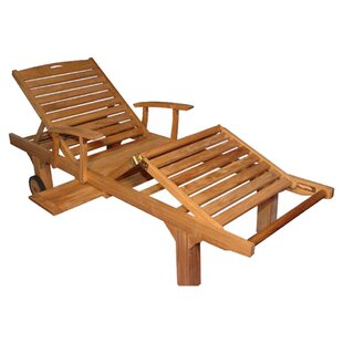 Reclining Teak Chaise Lounge (Set of 2)