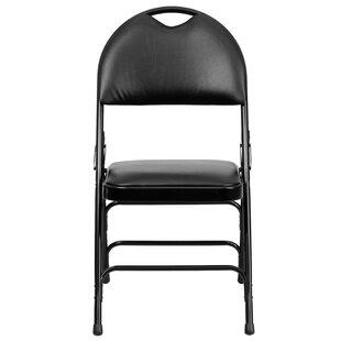 Hercules Series Personalized Vinyl Padded Folding Chair by Flash Furniture