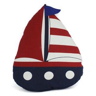 American Sailboat Nautical Decorative Pillow