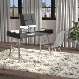 Newdale Glass Writing Desk by Langley Street Reviews