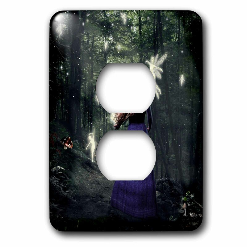 3drose Walking With Fairies In The Forest Victorian 1 Gang Duplex Outlet Wall Plate Wayfair