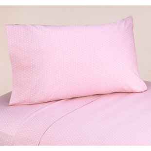 Mod Dots 4 Piece 100% Cotton Pink Sheet Set