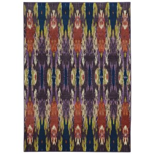 Prismatic Abstract Purple/Orange Area Rug