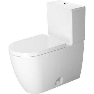 Duravit Me by Starck 1.32 GPF Elongated Two-Piece Toilet with Glazed Surface (Seat Not Included)