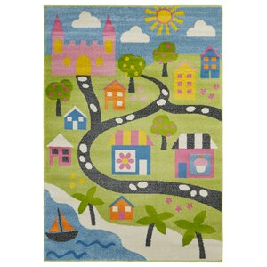 Gulf Fairytale Green/Blue/Pink Area Rug