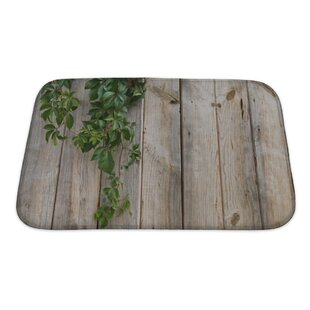 Wood Wall Leaves Bath Rug
