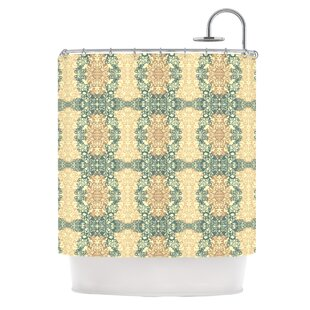 Fancy Damask Antique by Mydeas Single Shower Curtain