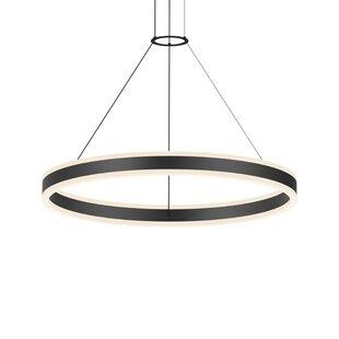 Double Corona 2-Light LED Geometric Chandelier by Sonneman
