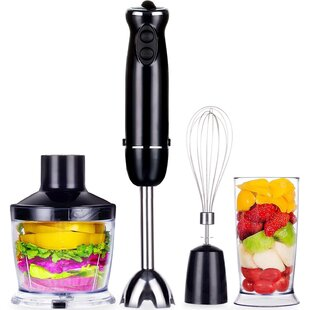 VECELO Hand Blender Set Premium 4-in-1 Immersion 6 Speeds 500ml 700W- Black