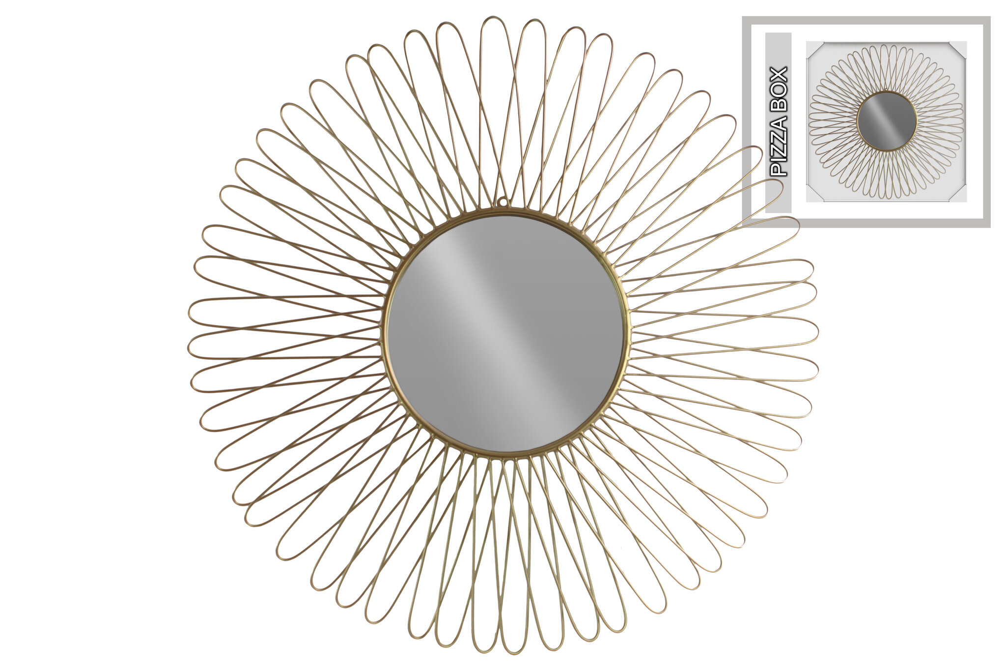 Brayden Studio Petal Metal Round Accent Mirror Wayfair