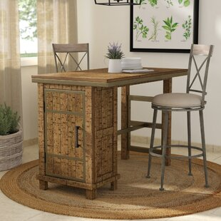 Laurel Foundry Modern Farmhouse Desjardins Rectangular Counter Height Dining Table with Storage