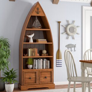 "Hanging Boat Shelf Set of 2 Tabletop Standing /& Wall Mount 23/"" 33/"" H 6 Shelves"