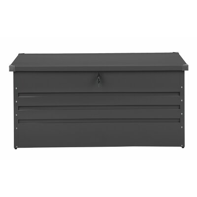 Cebrosa Outdoor 105 Gallon Metal Deck Box Beliani Color: Gray