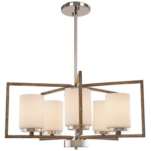 Union Rustic Mabie 5-Light Shaded Chandelier