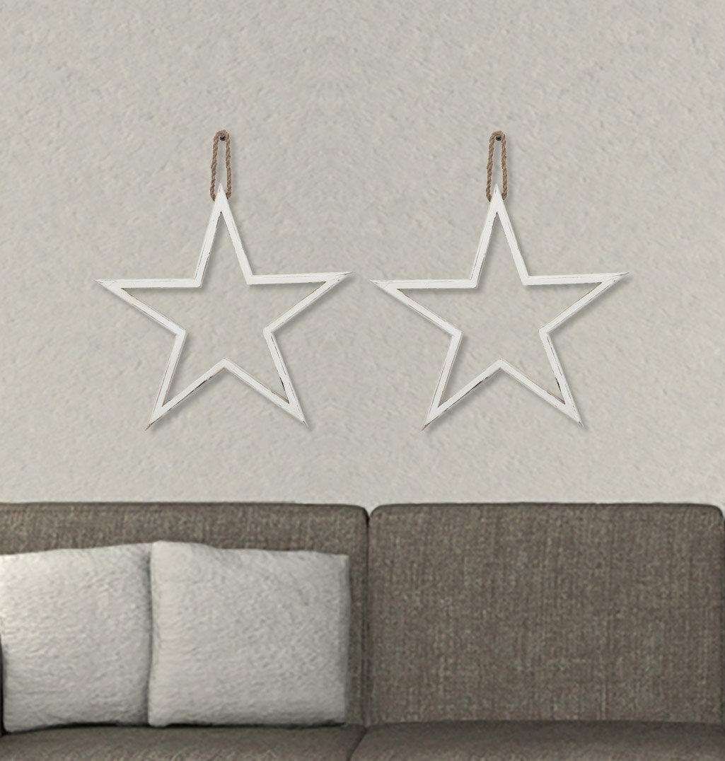 2 Piece Wood Star Wall Décor Set