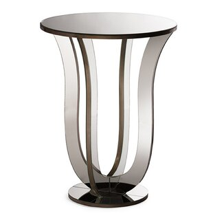 Gimenez Modern Mirrored End Table by Orren Ellis