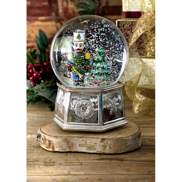 Spode Christmas Tree Musical Nutcracker Snow Globe