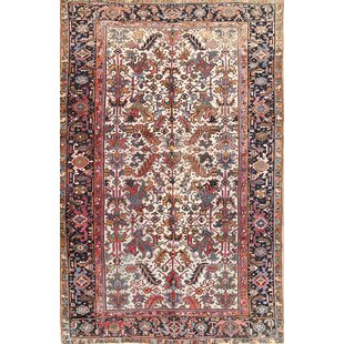 2d00edbb7477 One-of-a-Kind Heinrich Traditional All over Heriz Persian Hand-Knotted