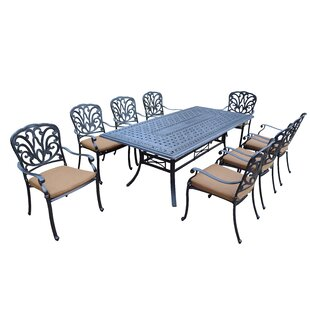 Darby Home Co Bosch 9 Piece Dining Set with Cushion