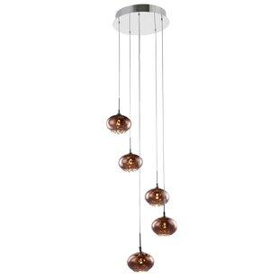 Bergen 5-Light LED Cluster Pendant by Wrought Studio
