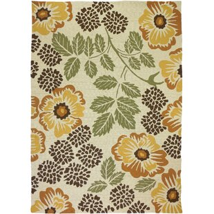 Dorothy Floral Beige Indoor/Outdoor Area Rug
