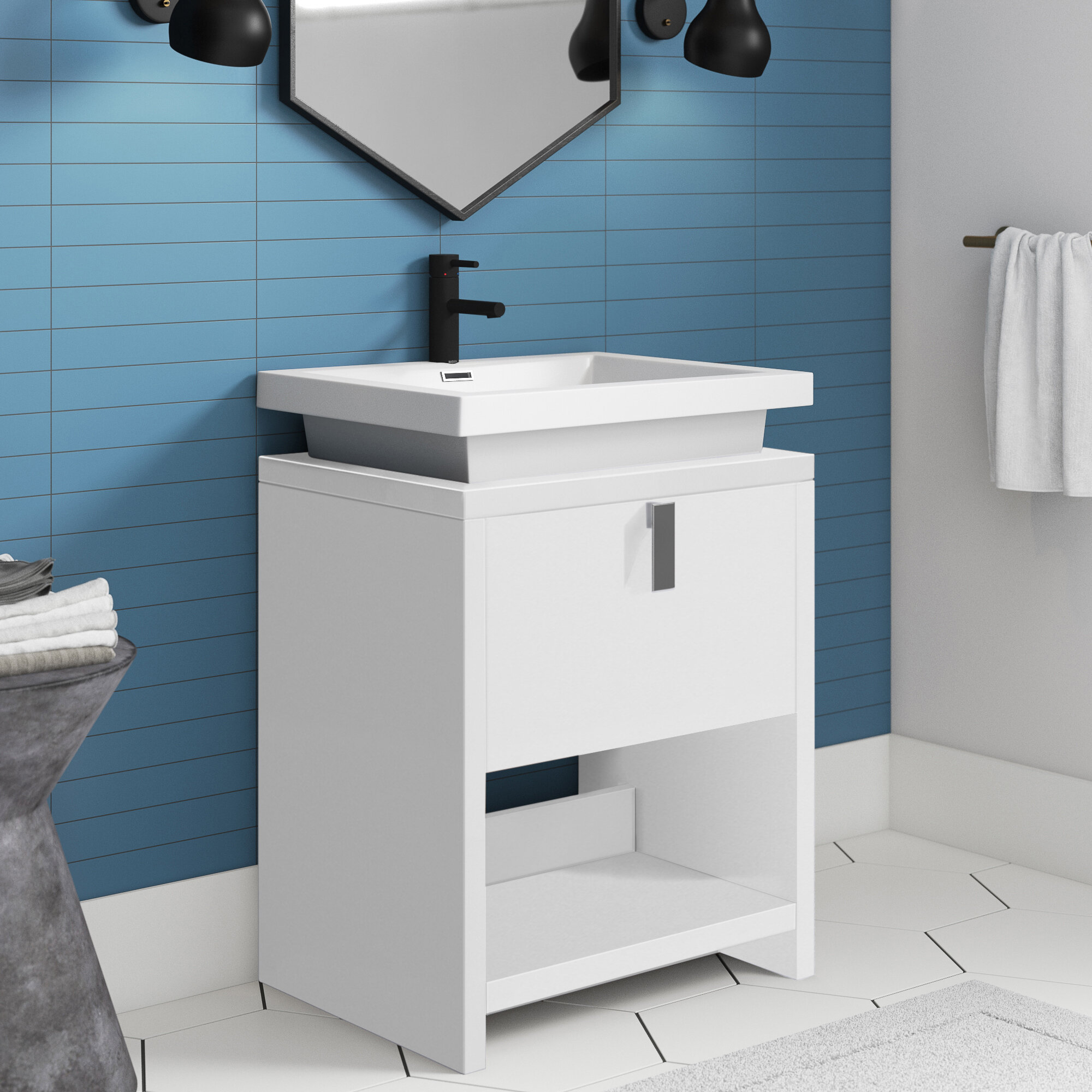 Modern 20 25 Bathroom Vanities Allmodern