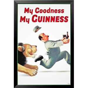 'My Goodness My Guinness' Print Poster by Gilroy Framed Vintage Advertisement