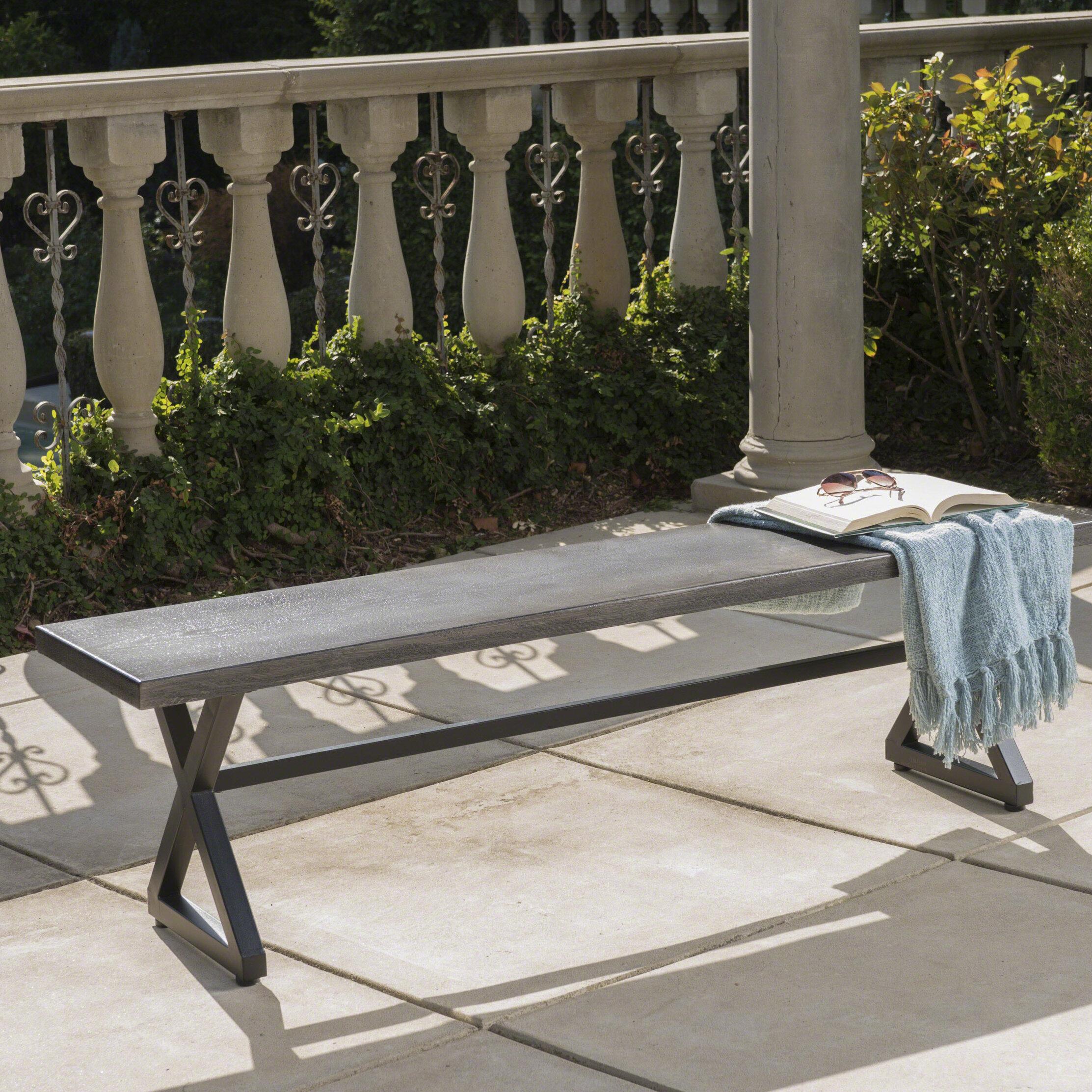Pleasing Union Rustic Bohra Outdoor Aluminum Picnic Bench Reviews Evergreenethics Interior Chair Design Evergreenethicsorg