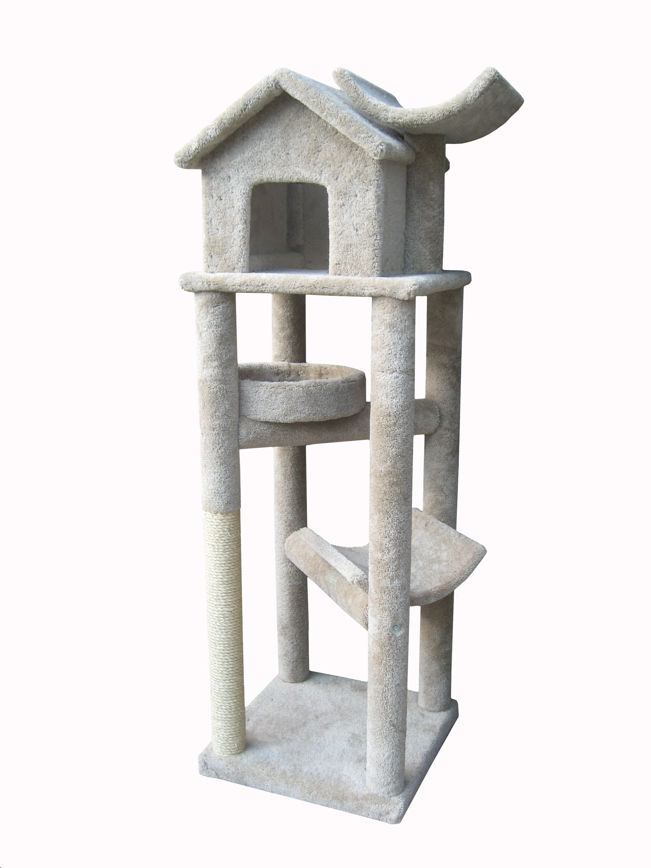 """Molly and Friends 76"""" The Tree House Cat Tree & Reviews"""