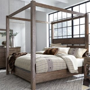 Teitelbaum California King Solid Wood Low Profile Canopy Bed by Loon Peak