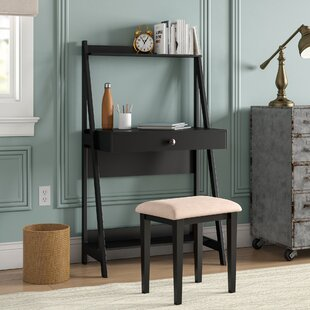 Abrams Wooden Ladder Desk and Chair Set