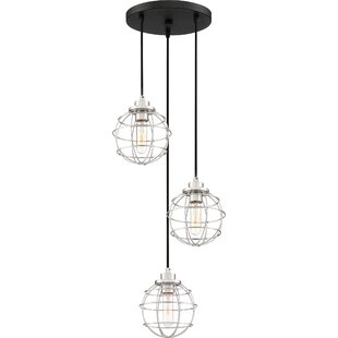Cleland 3-Light Cluster Pendant by Williston Forge