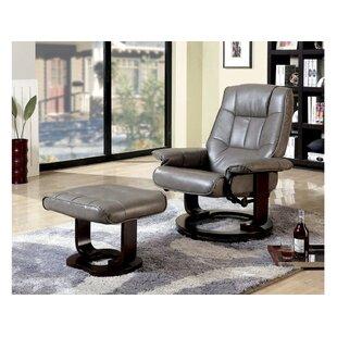 Rivenbark Swivel Lounge Chair and Ottoman ByLatitude Run