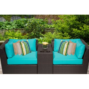 Barbados 3 Piece Conversation Set with Cushions