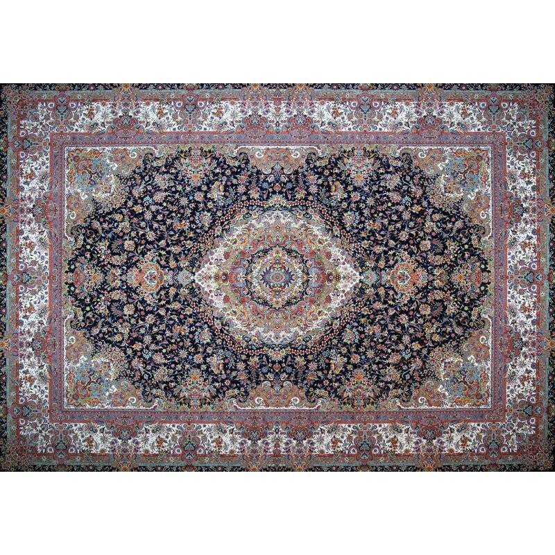 Rug Tycoon Hand Look Persian Wool Red Blue Ivory Area Rug Wayfair