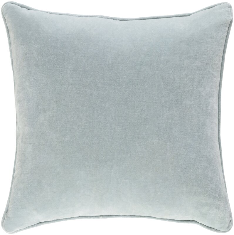Velvet Pillow for Gorgeous Bedroom Decor! Baylie Cotton Velvet Throw Pillow #velvet #pillow #aqua