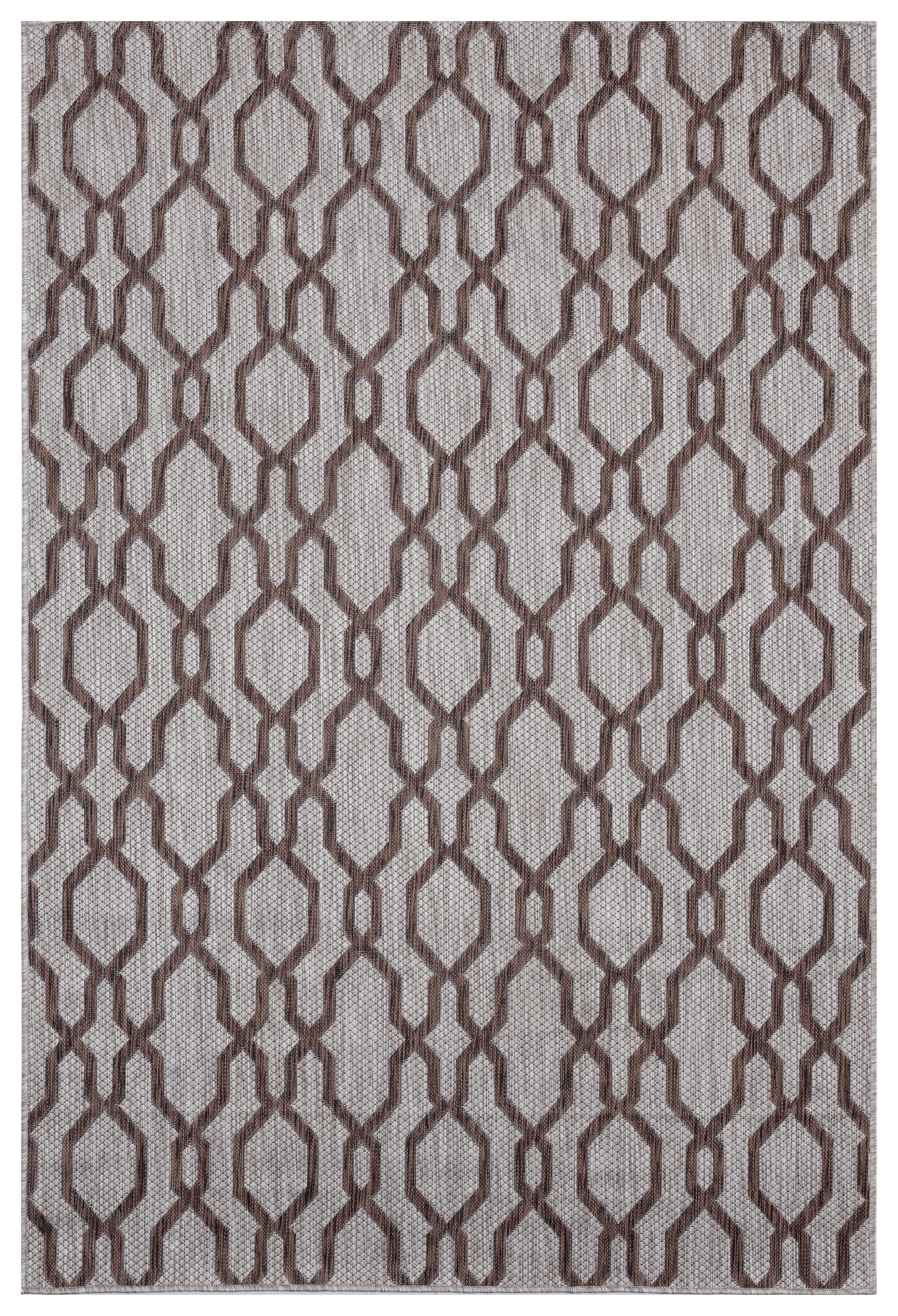 Canora Grey Purkey Geometric Brown Indoor Outdoor Use Area Rug Wayfair