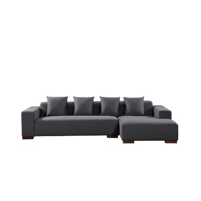Checketts Sectional Upholstery: Dark Gray, Orientation: Right Hand Facing by Brayden Studio