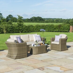 Scribner 5 Seater Rattan Sofa Set By Sol 72 Outdoor