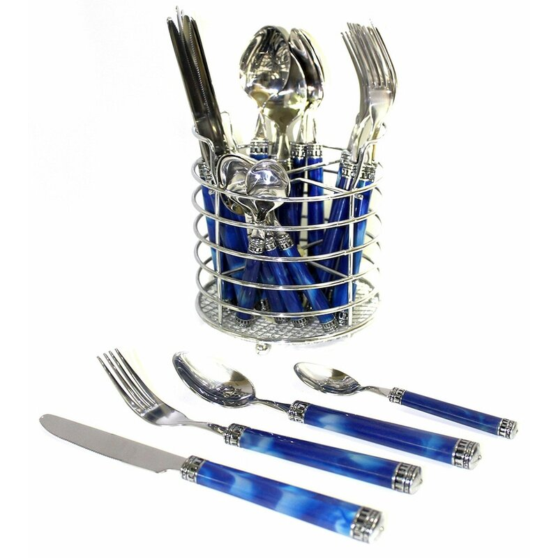 Rainbow Elite 24 Piece Flatware Set