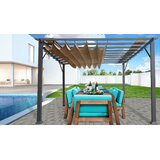 132 W x 132 D Metal Pergola with Canopy
