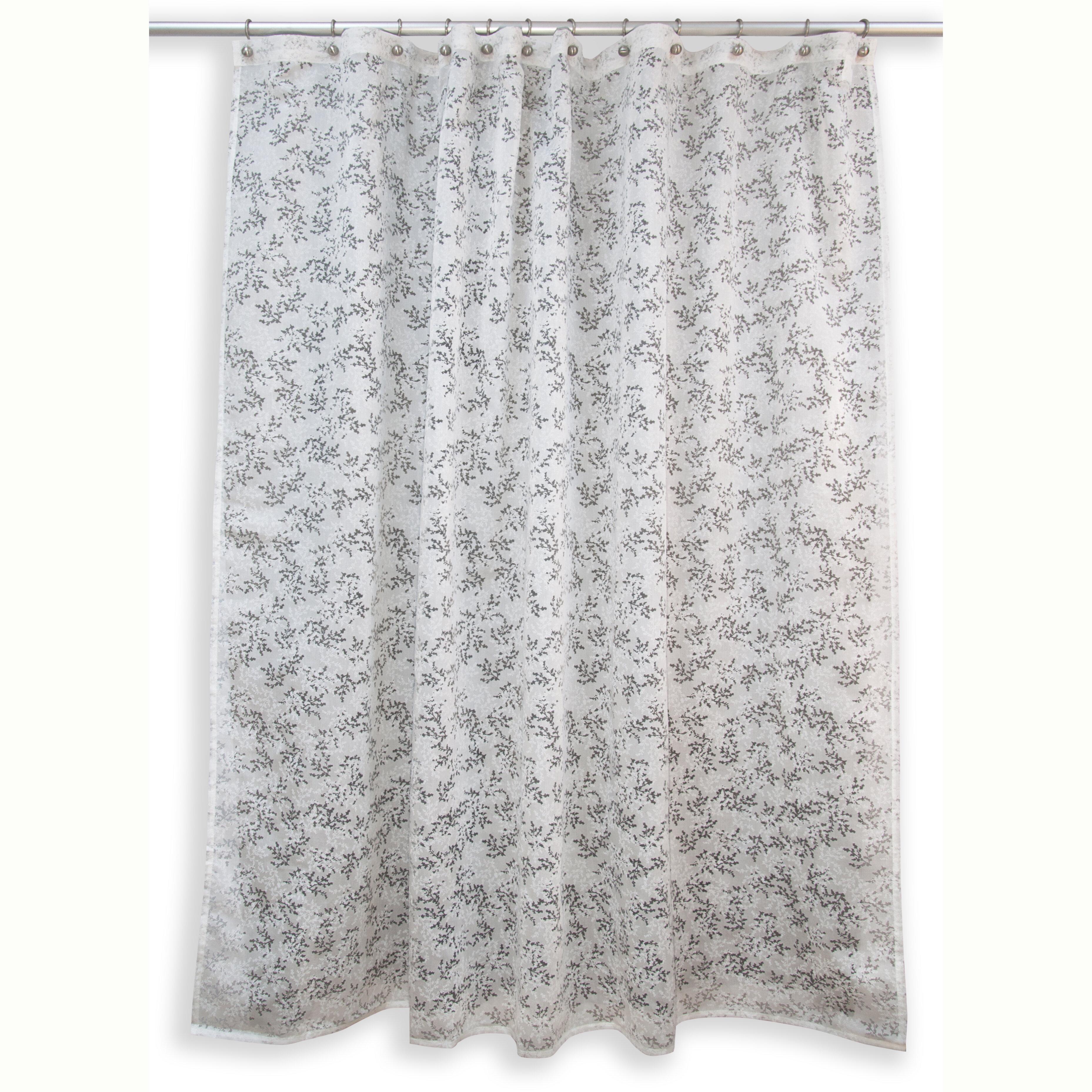 Comfort Bay Textured Fabric Shower Curtian Chiara Home