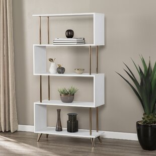Doolittle Asymmetrical Etagere Bookcase by Everly Quinn