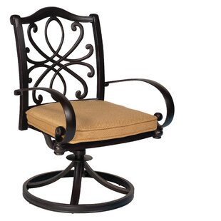 Holland Swivel Rocker Patio Dining Chair with Cushions